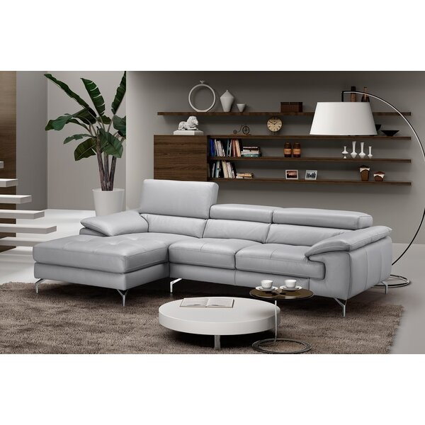 Armiead Leather Sectional by Orren Ellis