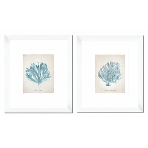 Flora Giclée 2 Piece Framed Graphic Art Set by Beachcrest Home