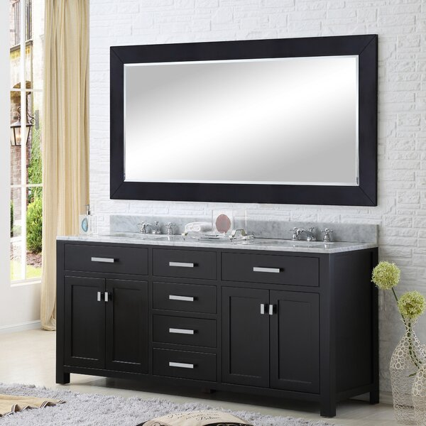 Raven 60 Double Bathroom Vanity Set with Rectangular Mirror by Andover Mills