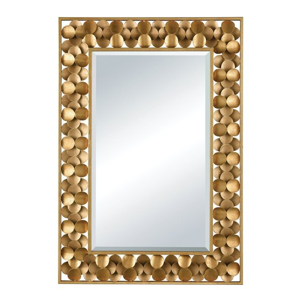 Antique Gold Metal Accent Wall Mirror by Bay Isle Home