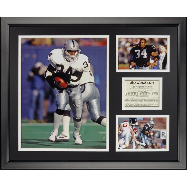 NFL Oakland Raiders - Bo Jackson Framed Memorabili by Legends Never Die