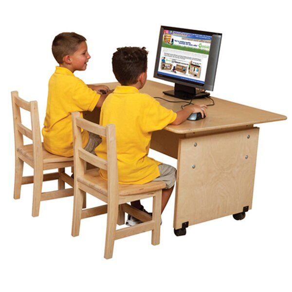 Wood Adjustable Height Student Computer Desk by Wood Designs