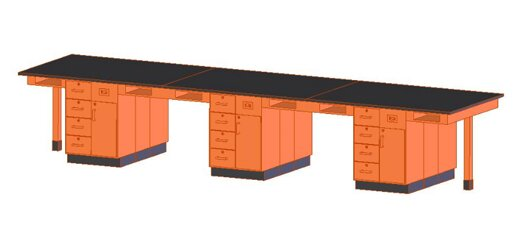 Twelve Station Service Center Workstation by Diversified Woodcrafts