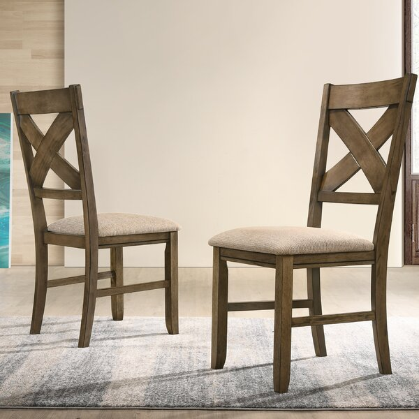 Poe Upholstered Dining Chair (Set of 2) by Gracie Oaks