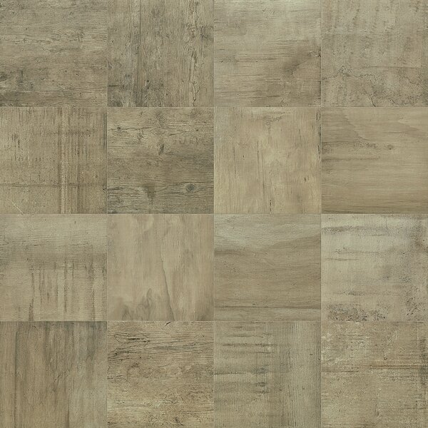 Reunion 24 x 24 Porcelain Wood Look Tile in Greige by PIXL