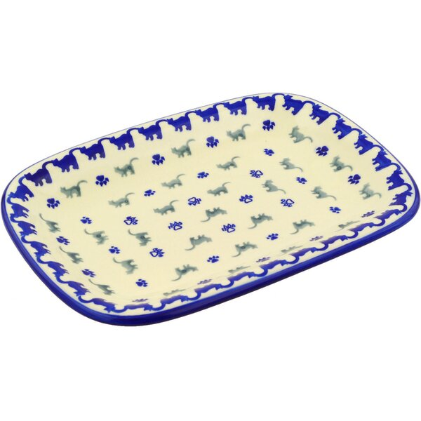 Polish Pottery 11 Rectangular Platter by Polmedia