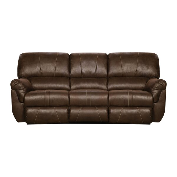 Choosing Right Simmons Upholstery Leeann Motion Reclining Sofa by Loon Peak by Loon Peak