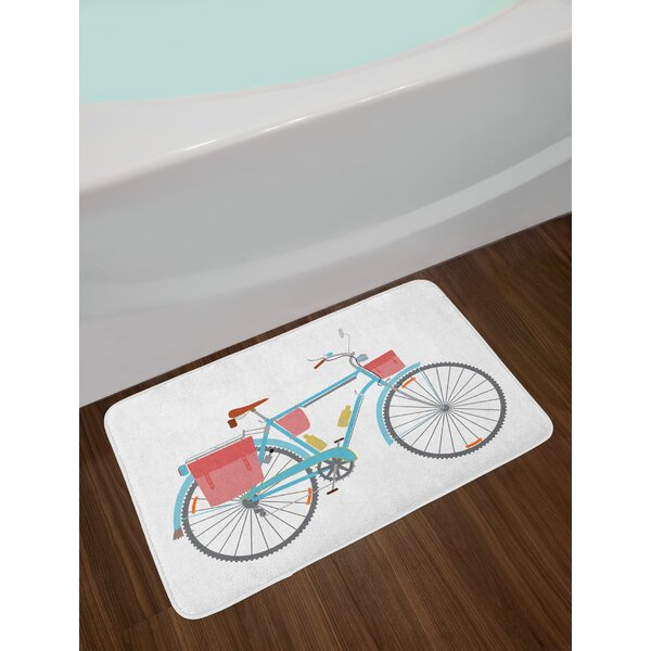 Classic Bicycle Bath Rug by East Urban Home