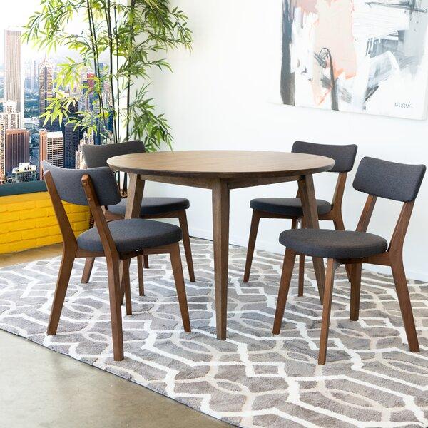 Brooten 5 Piece Solid Wood Dining Set by Corrigan Studio