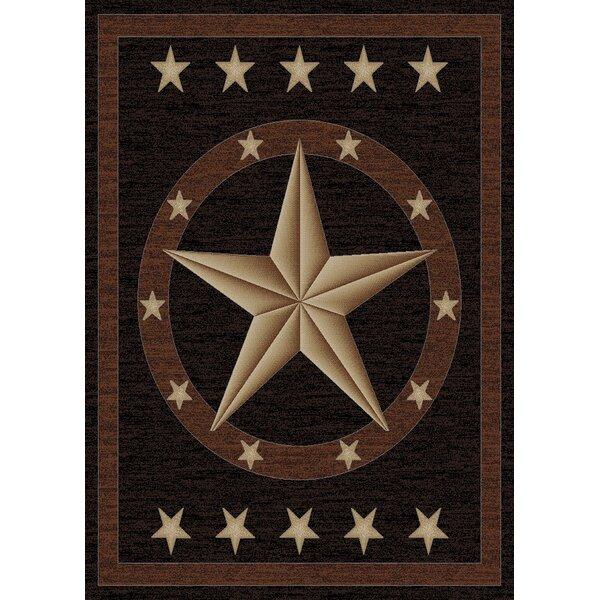 Mayberry Rug Hearthside Western Star Ebony Area Rug U0026 Reviews | Wayfair
