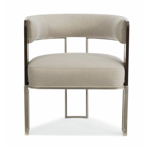 Modern Streamline Barrel Chair by Caracole Modern