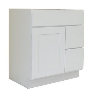 Inexpensive Shaker Cabinet 30 Single Bathroom Vanity Base Only By NGY Stone & Cabinet