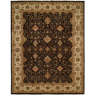 Diphu Hand-Knotted Black/Ivory Area Rug By Meridian