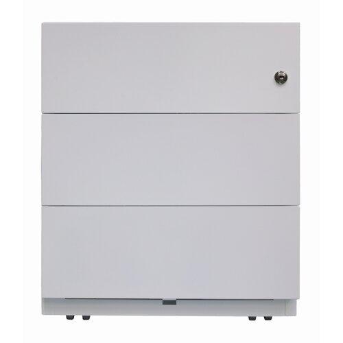 Rollcontainer Note mit 3 Schubladen Bisley Farbe: Lichtgrau | Büro > Büroschränke | Bisley