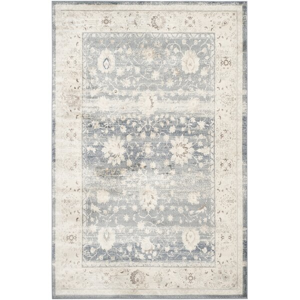 Valmer Dark Blue / Cream Area Rug by Lark Manor