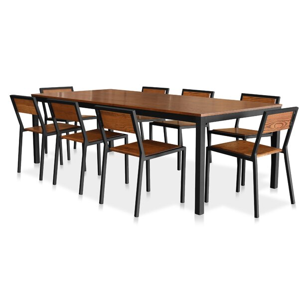 Sofian 9 Piece Solid Wood Dining Set By Ebern Designs