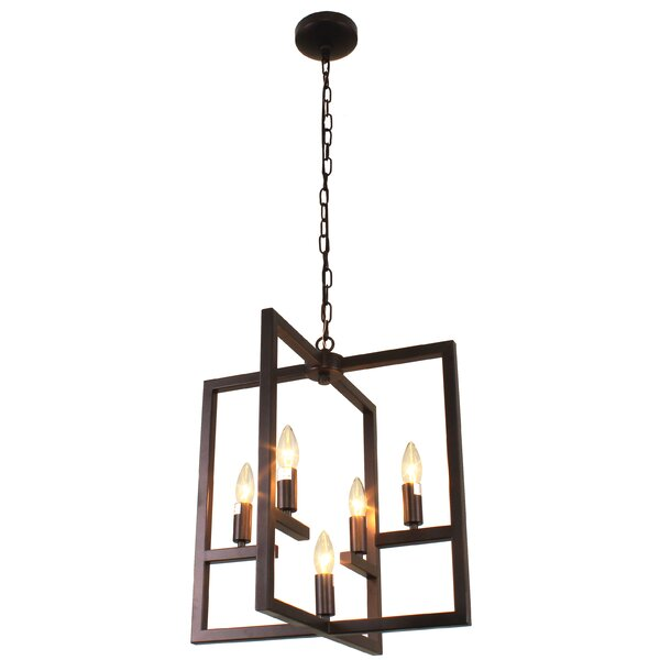 Dunnstown Farmhouse 5-Light Candle Style Geometric Chandelier By Gracie Oaks