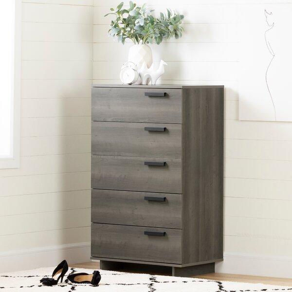 Cavalleri 5 Drawer Standard Dresser/Chest by South Shore