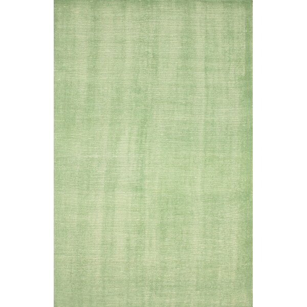 Zem Wynona Hand-Knotted Wool Green Area Rug by nuLOOM