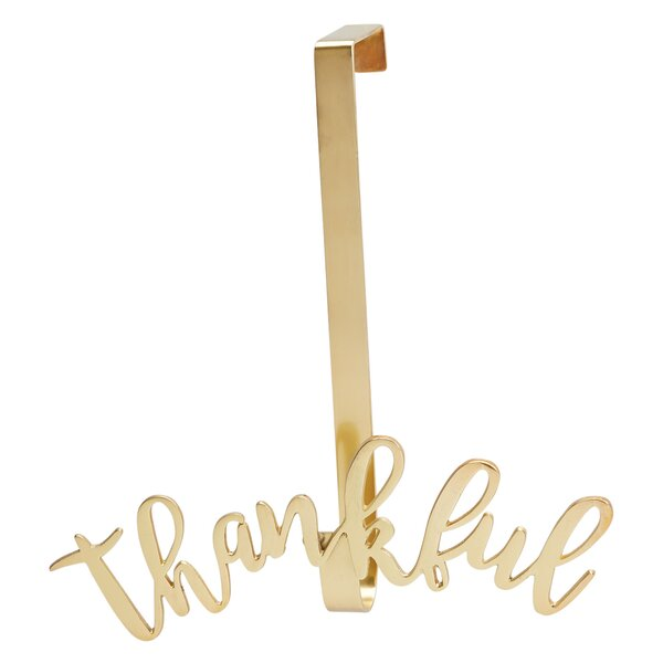 Thankful Wreath Hanging Accessory by Mud Pie™
