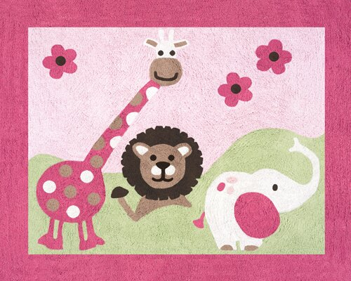 Jungle Friends Area Rug by Sweet Jojo Designs