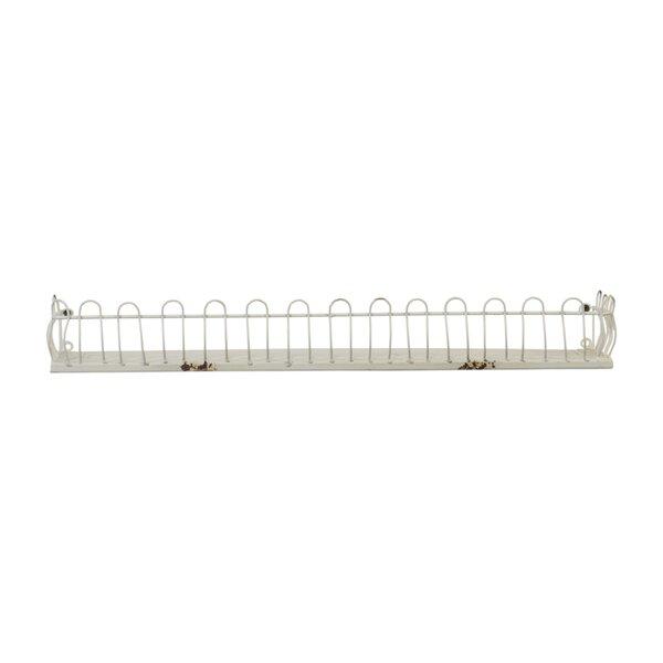 Lamberton Rustic Metal Floating Shelf by Ophelia & Co.