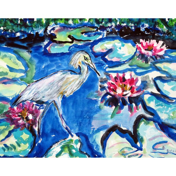 Heron and Waterlilies Placemat (Set of 4) by Betsy Drake Interiors
