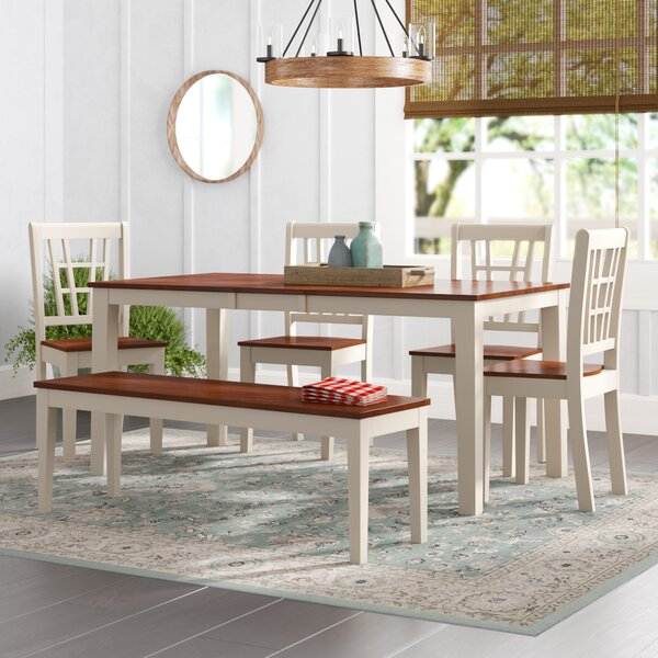 Cleobury 6 Piece Dining Set by August Grove August Grove