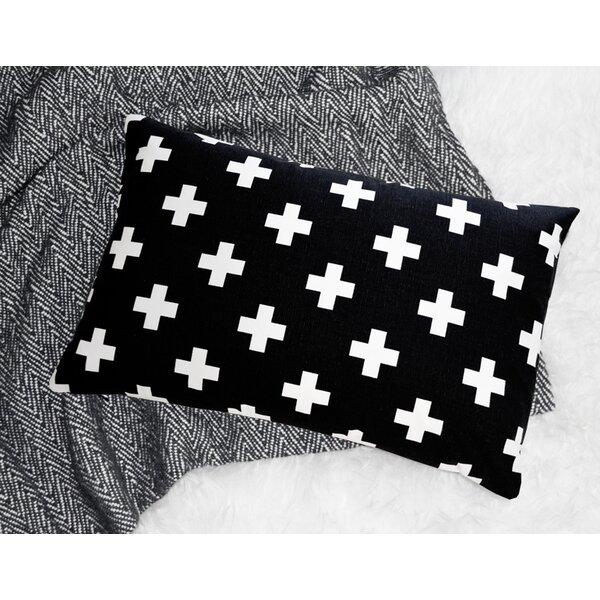 Lisnagarvey Cross Cotton Lumbar Pillow by Harriet Bee