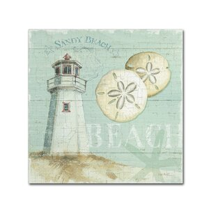 Ryhill Beach House Painting Print on Wrapped Canvas by Beachcrest Home