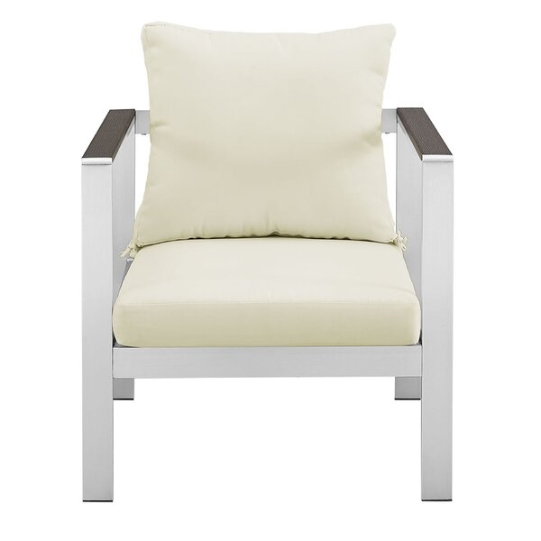 Jody Patio Dining Chair with Cushion by Wade Logan