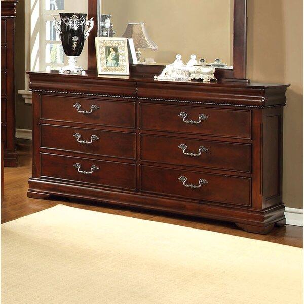 Cherisse 6 Drawer Double Dresser with Mirror by Hokku Designs