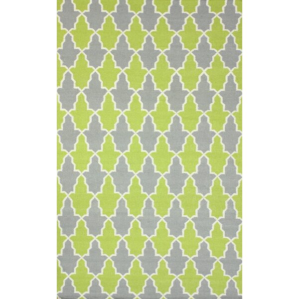 Remade Flat Woven Wool Green/Gray Area Rug by nuLOOM
