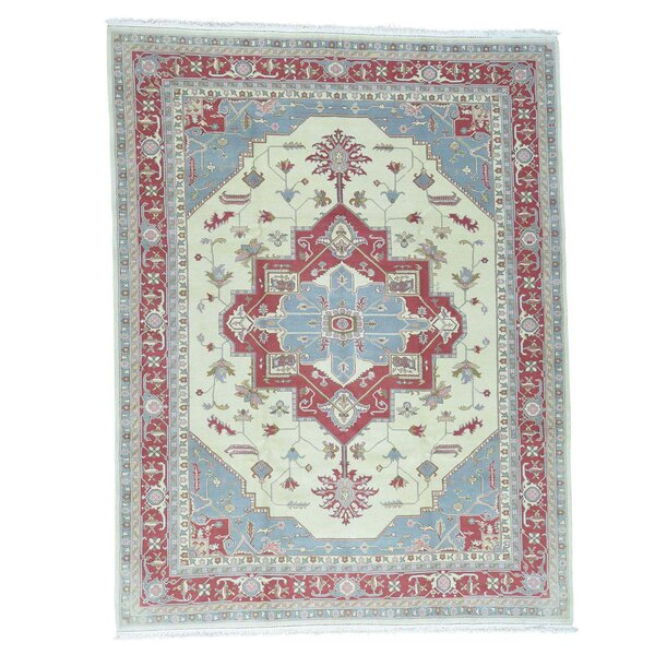 One-of-a-Kind Salvato Sino Hand-Knotted Ivory Area Rug by Astoria Grand