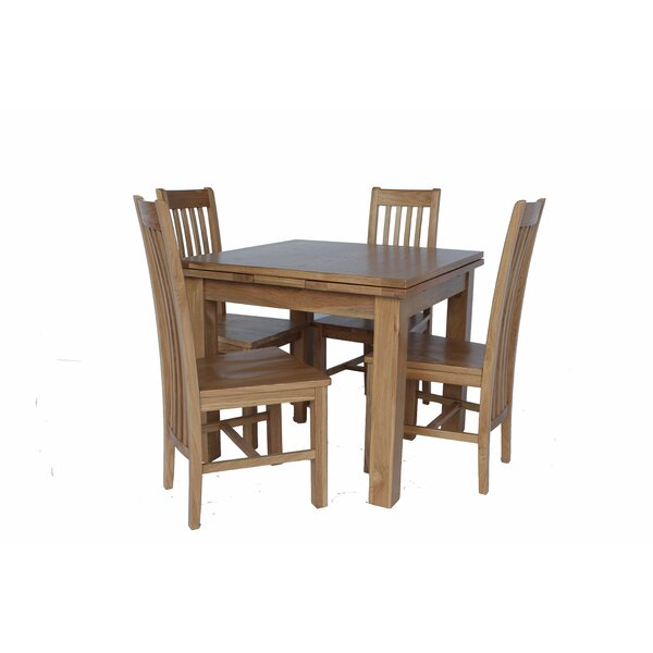 Pecora 5 Piece Extendable Dining Set by Loon Peak