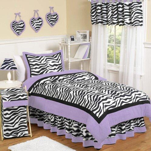 Zebra Cotton Comforter Set by Sweet Jojo Designs