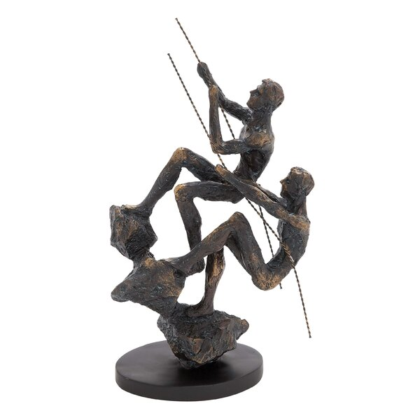 Rustic Brown Climbers Figurine by World Menagerie