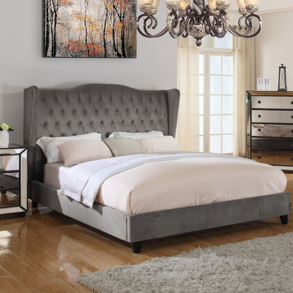 Sasha Upholstered Standard Bed by Everly Quinn