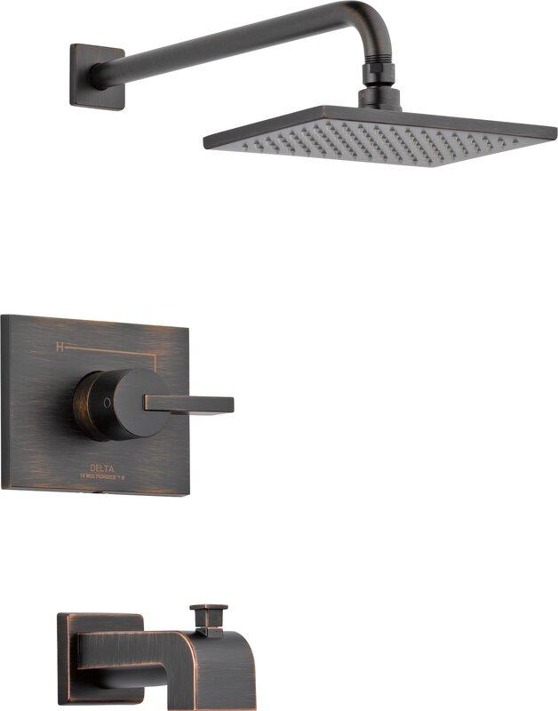 Default nameDelta Vero Tub and Shower Faucet with Lever Handles   Reviews  . Shower Tub Faucet Reviews. Home Design Ideas