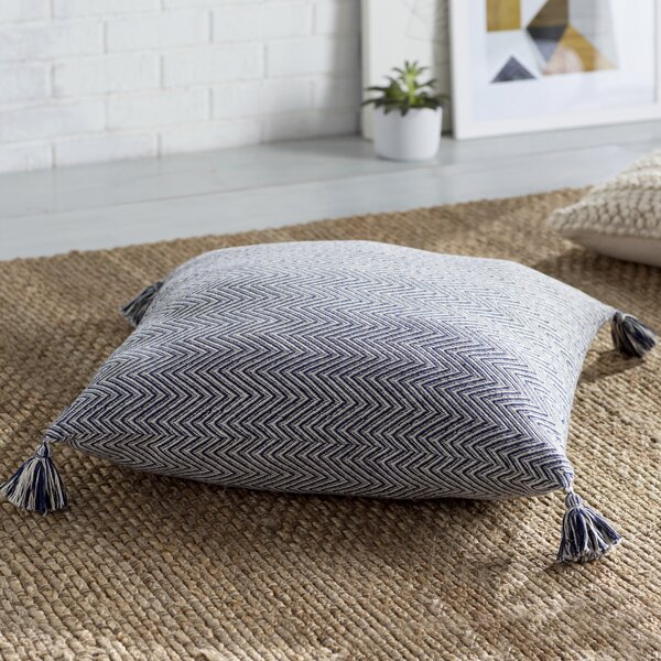 Cottonwood Chevron Cotton Floor Pillow by Mistana| @ $89.00