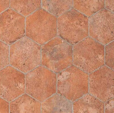 Chicago Brick Hexagon 9 x 11 Porcelain Mosaic Tile in Wrigley by Tesoro