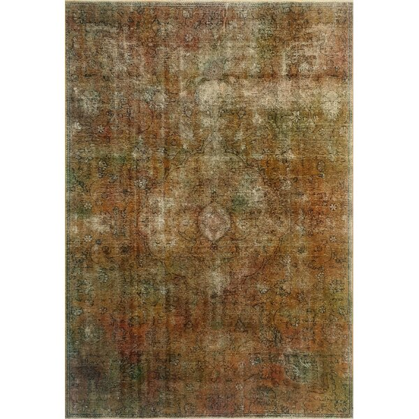 One-Of-A-Kind Treva Hand-Knotted Wool Brown Area Rug by Isabelline