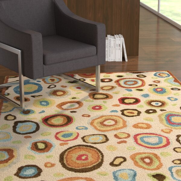 Asterope Ivory Area Rug by Ebern Designs