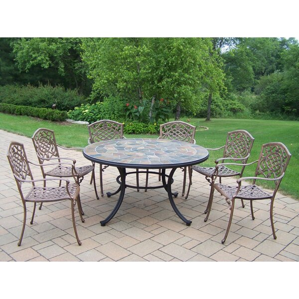 Stone Art 7 Piece Dining Set by Oakland Living