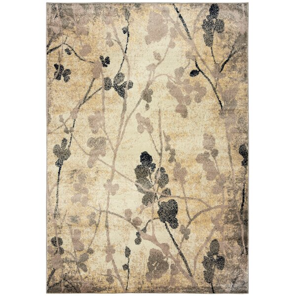 Evangeline Beige Area Rug by Threadbind