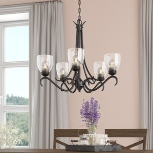 Affordable Price Sheila 5-Light Shaded Chandelier By Laurel Foundry Modern Farmhouse