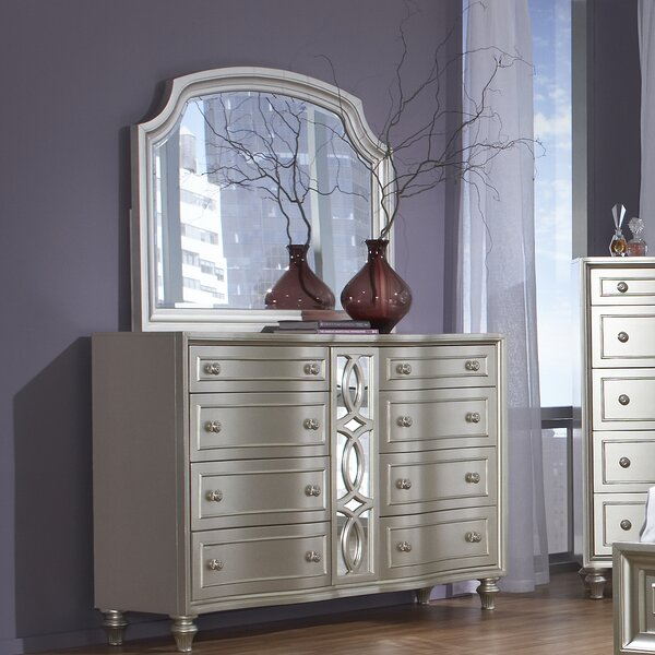 Anette 8 Drawer Double Dresser with Mirror by Willa Arlo Interiors