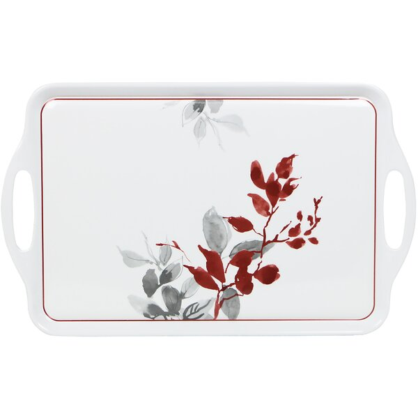 Kyoto Leaves Rectangular Melamine Serving Tray by Corelle