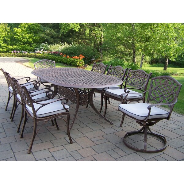 Mcgrady 9 Piece Dining Set with Cushions by Astoria Grand