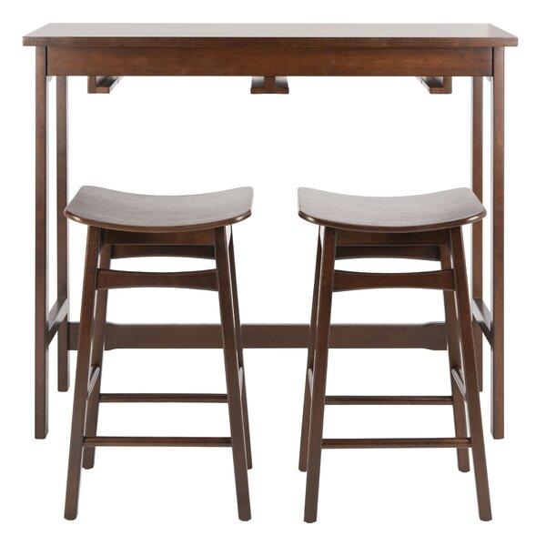 Chaska 3 Piece Pub Table Set by Ebern Designs Ebern Designs